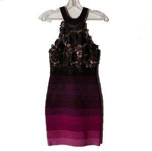 Purple/Black/Ombré Cocktail Bodycon Dress